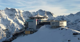 James Bond film location Piz Gloria at Schilthorn, Switzerland